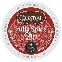 Celestial Seasonings India Spice Chai Tea, 48 count K cups, FREE SHIPPING - $36.45