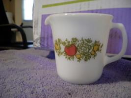 Pyrex Glass Creamer with Tomato Lemon Veggie Pattern Lovely - $6.66
