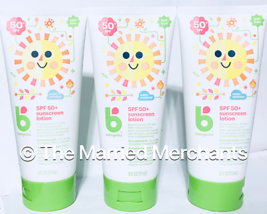 (3) Babyganics SPF 50+ Sunscreen Lotion Water Resistant 6 oz each 3/2021... - $17.95