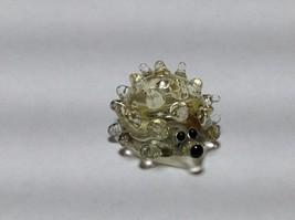 Miniature Glass clear hedgehog Handmade Blown Glass Made USA
