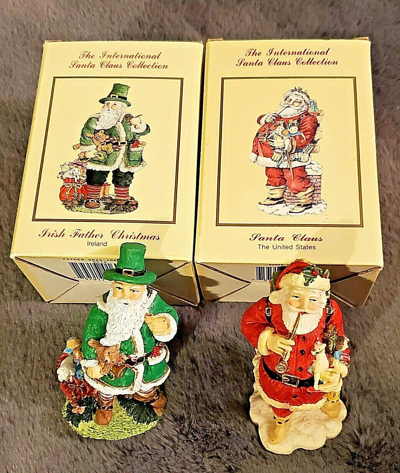 Primary image for INTERNATIONAL SANTA CLAUS COLLECTION 2 PC. LOT IRISH & AMERICAN SANTA CLAUS' NEW