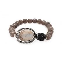 Natural Agate & Jasper Stretch Bracelet (815BR111) - $24.00