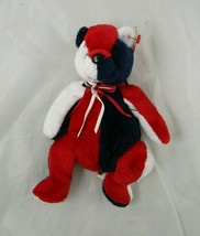 """Ty Beanie Baby Patriot Bear Red White Blue 8"""" 2001 Stuffed Animal Toy - $4.95"""