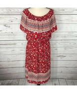 Style & Co Womens XX-Large XXL Dress Floral Peasant Style Off-Shoulder R... - $29.67