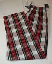 Men'S Polo Sleep Pants PJ bottoms white red logo Plaid pony S small P501HR - $49.99