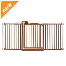 Richell One-Touch Gate Ii Wide Brown 94932 Pet GATE NEW - $227.98