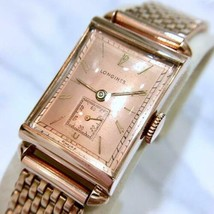 Rare LONGINES 1943 years antique square Men's watch hand-winding operation goods - $1,914.65