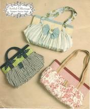 Misses Artful Offerings Handbags Purses Bags Tote Karina Hittle Sew Pattern - $12.99