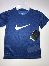 NIKE BOYS TSHIRTS 4-7 YEARS (4 YEARS, DRI-FIT BLUE MELANGE) - $16.65