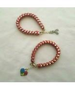 GBN Venetian-style gold box links bracelet interwoven with orange satin ... - $3.99