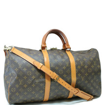 LOUIS VUITTON Monogram Keepall Bandouliere 50 Boston Bag LV Auth 8015 - $540.00