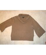 XL Dark Oatmeal Brown Cowl Neck Willi Smith 100% cotton 3/4 sleeves EUC - $18.99