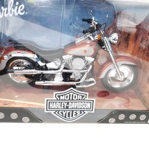 New Barbie HD Harley Davidson Fat Boy Motorcycle 1:6 Scale 1999 - $128.65
