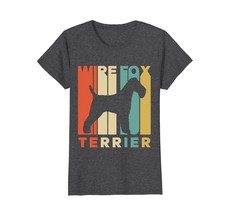 Vintage Style Wire Fox Terrier Silhouette T-Shirt - $19.99+