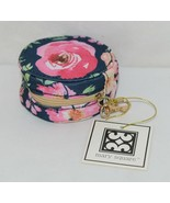 Mary Square 20328 Vintage Floral Earbud Case Zip Closure Elastic Bands I... - $14.00