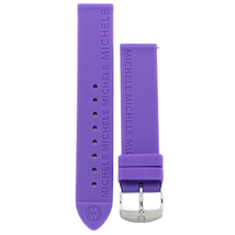 Michele 16mm Lavender Purple Rubber Strap MS16AI040531 Deco 16 Lilou Clo... - $34.43