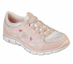 Skechers Pink Shoes Memory Foam Women Sporty Floral Comfort Casual Slip ... - $49.79
