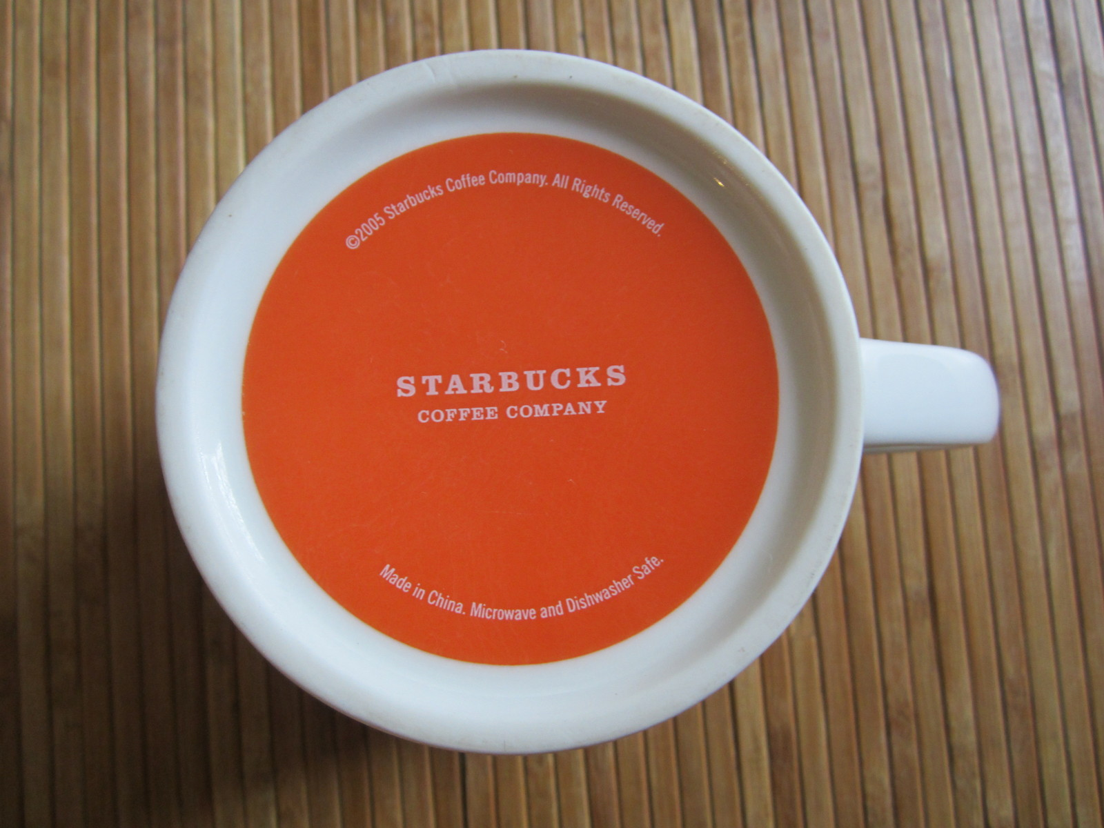 2005 Starbucks Guatemala Antigua Coffee Mug Tea Cup Latin America Orange 16 oz