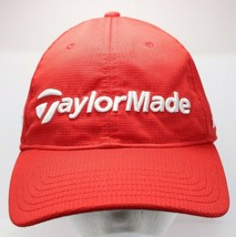 Taylor Made Golf Hat Burner Cap Embroidered Red Adjustable Tmax Gear - $12.19