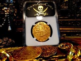 """PERU 8 ESCUDOS 1702 """"1715 FLEET SHIPWRECK"""" NGC 63 PIRATE GOLD COINS TREA... - $24,500.00"""