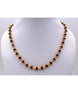 TRADITIONAL DESIGN 22K GOLD CHAIN NECKLACE GOLD & RUDRAKSH BEADS MALA HA... - $2,177.01
