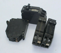 Lot Of 4 GE THQP240 Circuit Breaker 2-Pole 40A 120/240VAC Used - $21.77