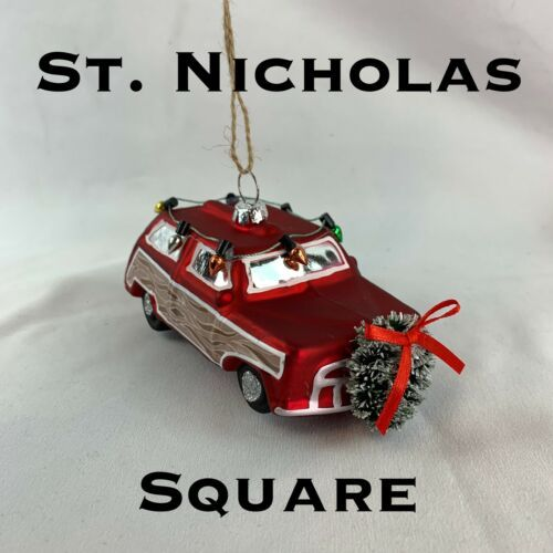 Primary image for St Nicholas Square Christmas Tree Ornament NEW Vinatge Car