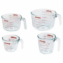 Pyrex FBA_1118989 Measuring Cup Set, 4 Pack, Clear - $39.51