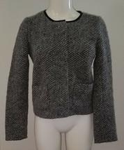 GAP Gray Wool Blend Cropped Blazer/Jacket Size 2 Career Lined - $24.70