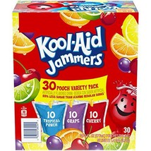 Kool-Aid Jammers Variety Pack 30 - 6 oz Pouches