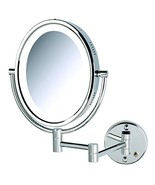 Jerdon HL9516C 5X-1X Magnification Oval Lighted Wall Mount Mirror, Chrome - $84.98
