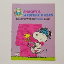 Snoopy Mystery Mazes Activity Book Peanuts Word Puzzles 1982 - $14.84