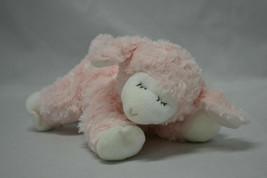 Baby Gund Lamb Winky Pink and White Plush Rattle Lovey Stuffed Animal To... - $9.85