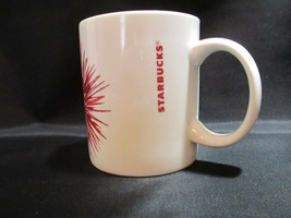 Starbucks Coffee Mug 12 OZ - 2014 Ceramic Red Fireworks Starburst  New N... - $28.80