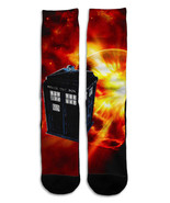 Dr. Who Tardis Police Booth 6  Crew Sock Steezy New Men 7-12/Women 8-18 ... - $12.95