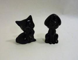 "Viking Hand Made USA 2.5"" Black Dog and Cat Figurine Paperweight - $42.65"
