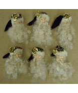 Santa Claus Ornaments Christmas Qty 6 - $16.41