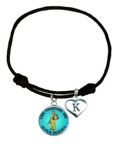 Firefighters are Super Heroes Black Leather Bracelet Jewelry Fireman Add Initial - $13.94