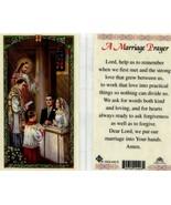 A Marriage Prayer Catholic Laminated Holy Card Getting Married Wedding O... - $1.99