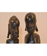 Tanganyika Hand Carved Ironwood Indigenous People Carvings Couple Africa... - $28.40