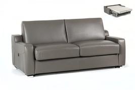 VIG Estro Salotti Dalia Modern Grey Full Genuine Leather Sofa Bed Contem... - €2.483,91 EUR