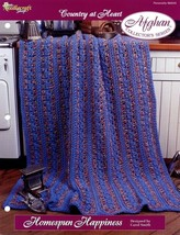 Homespun Happiness Afghan TNS Country at Heart Crochet PATTERN/INSTRUCTI... - $2.67