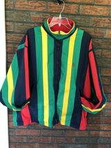Nautica Reversible Jacket XL Red Striped Lightweight Coat Sailing Boat Vintage image 3