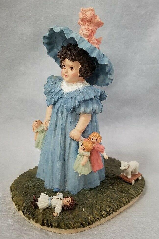 Hamilton Collection Maud Humphrey Bogart Figurine Playtime H1383 Girl Dolls 1550