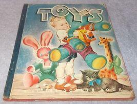 Little Golden Book Toys #22 Blue Cloth Binding 1945 Edith Osswald Ill b... - £14.46 GBP