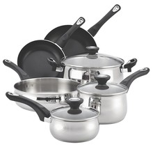 Farberware New Traditions Stainless Steel 12-Piece Cookware Set - $89.09