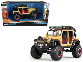 2015 Jeep Wrangler Unlimited Brown Off Road Kings 1/24 Diecast Model Car by - $52.14
