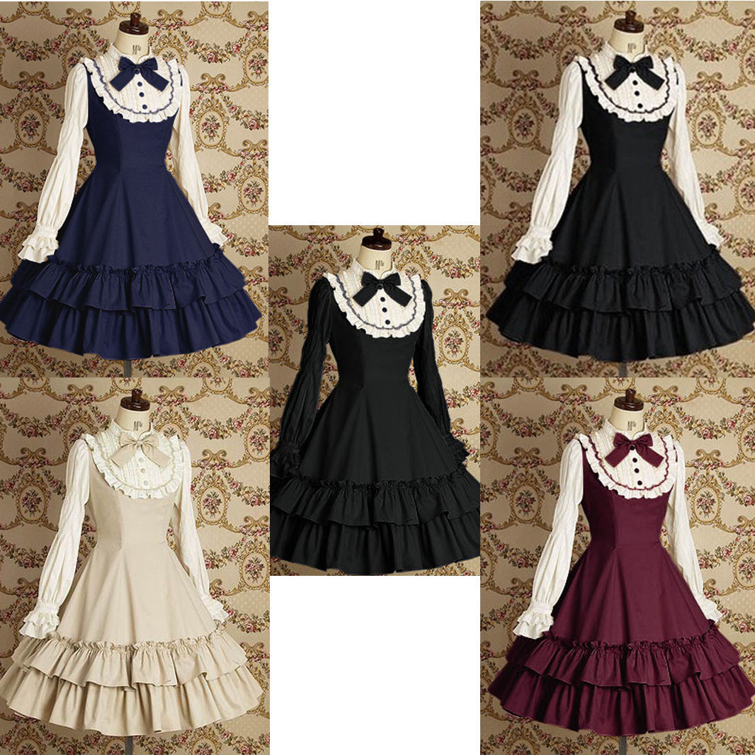 Primary image for Lolita Princess Court Dress Evening Party Long Sleeve Dresses Cosplay Costumes
