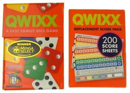 Qwixx Game & Replacement Score Pads Lot 300 Sheets Family Game Dice Repl... - $15.79