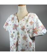 Butterfly Scrub Top Womens Nurse Hospital Dentist Lab Veterinarian Doctor - $11.29